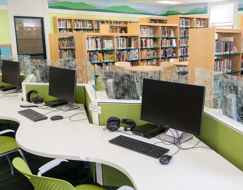 computers in library main area