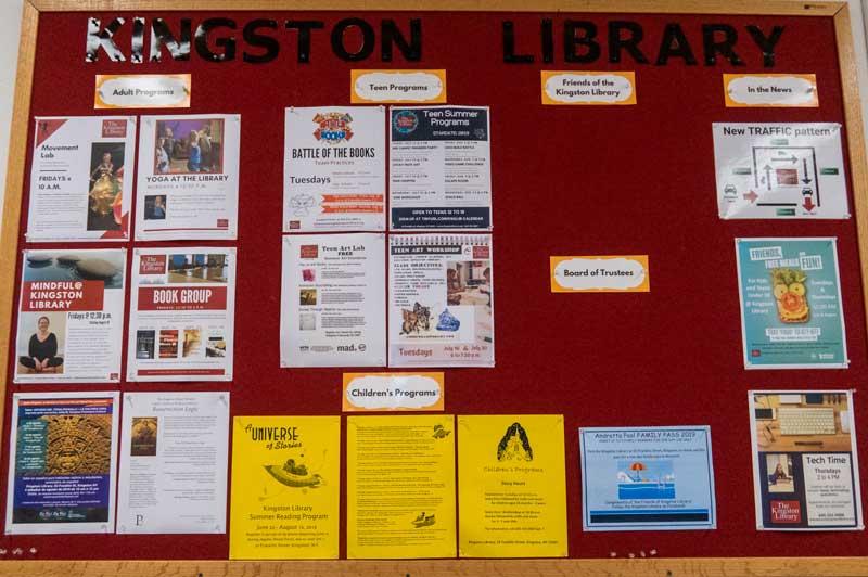 Kingston Library message board