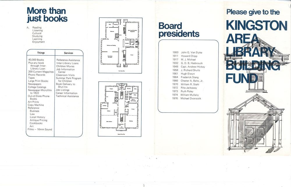 library building brochure